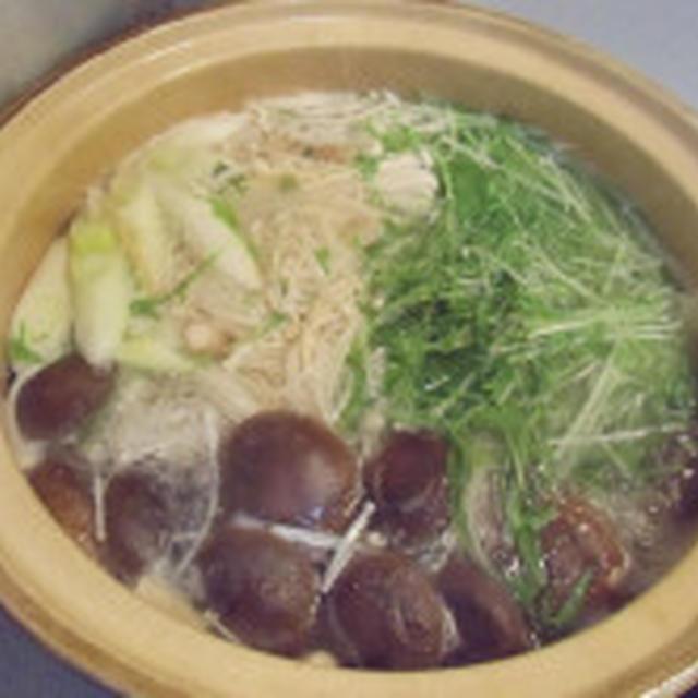 気持ちが良い青空  甘鯛と水菜のハリハリ鍋