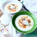 3分でおもてなし級! 夏バテにもきく、鶏ささみとえびの冷製ごちそうスープ。