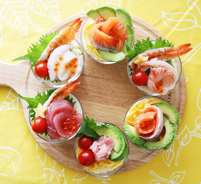 パッと華やぐおもてなし。敬老の日は「カップ寿司」でお祝いしよう!