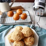 ハンドミキサーでパンが捏ねられる【黒ごまきな粉揚げパン】#キッチンエイド #コッタ