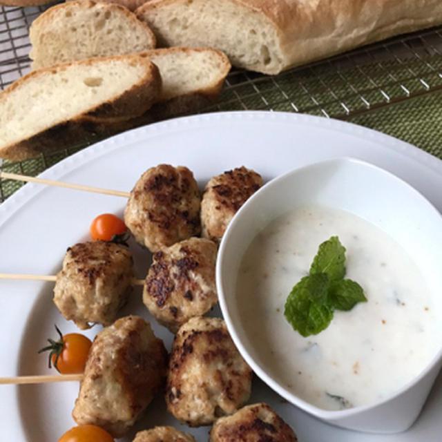 ピンチョス風スパイシーな鶏つくね&野菜スープ
