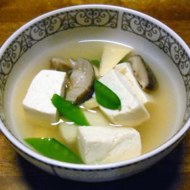 豆腐としいたけのスープ煮