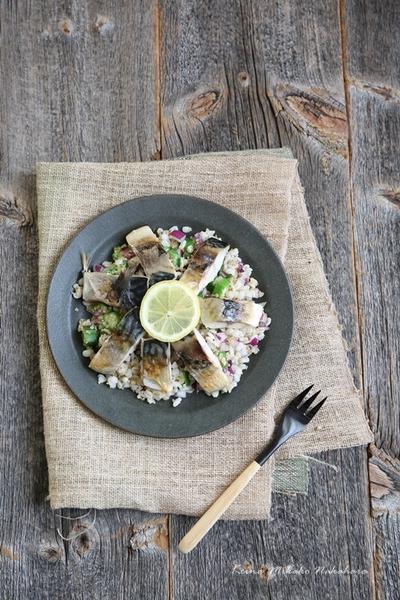 【レシピ:塩鯖のグレインズサラダ】