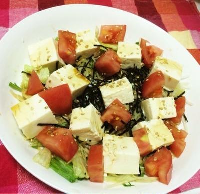 豆腐と海苔のサラダ