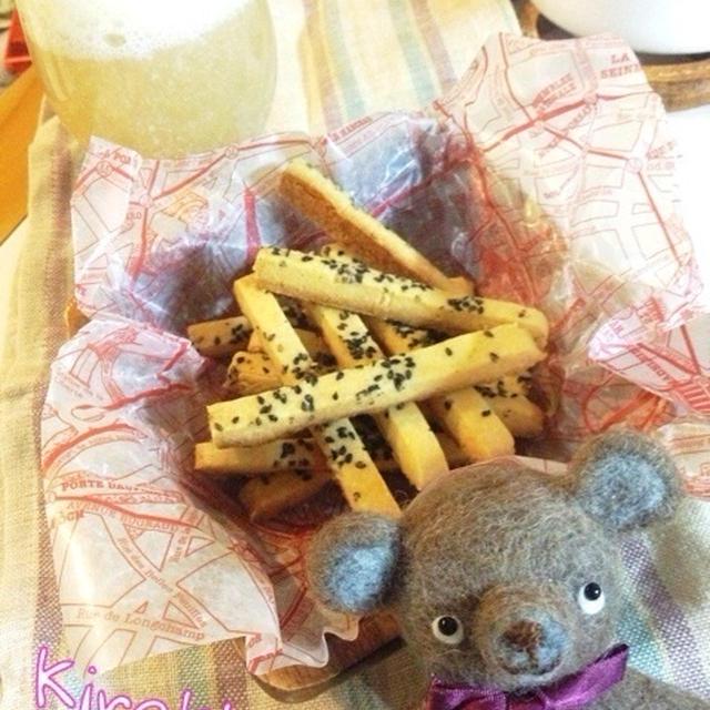 お酒にも合う☆ごまチーズクッキー