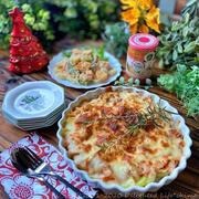 ポテトとチキンのトマトチーズ焼き&マカロニサラダ