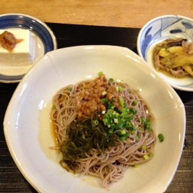 めかぶ納豆蕎麦