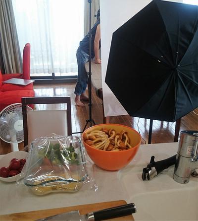 料理撮影@オレンジキッチンと内藤カボチャスープ