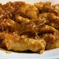 鶏むね肉の焼き肉のたれ・ケチャップ炒め♪