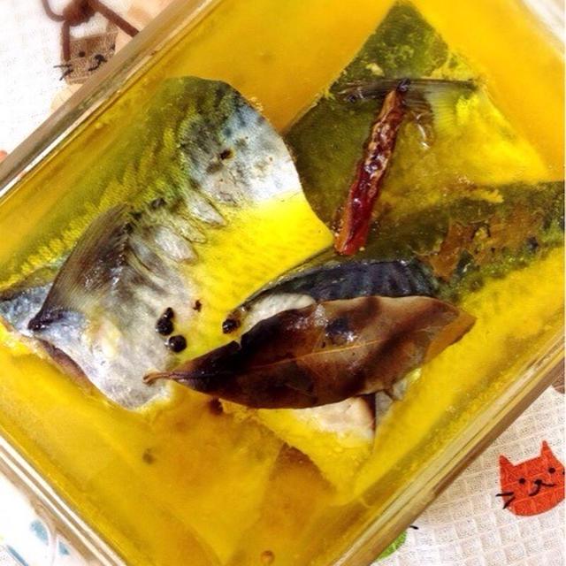 鯖のオイル煮。