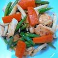 彩野菜と鮭の炒め物 by barbaさん