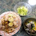 9月21日献立☆大好きなオンガクとビールと野菜のおかず☆シ・ア・ワ・セな全5品 by すいかさん