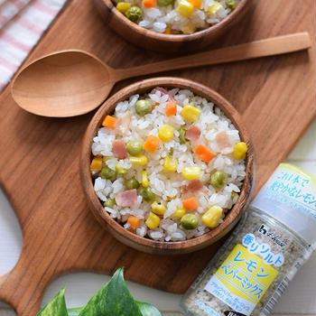 【スパイス大使】ミックスベジタブルの『レモンペパーミックスピラフ』♡ハウス食品