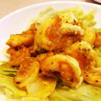 【レシピ】エビのスパイス炒め煮