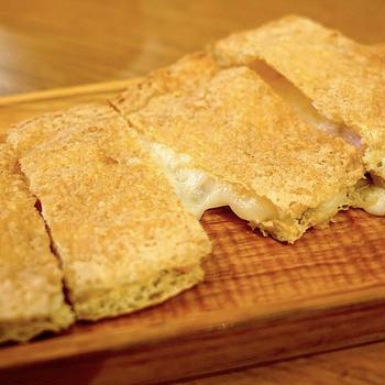 ハムチーズ油揚げ焼き
