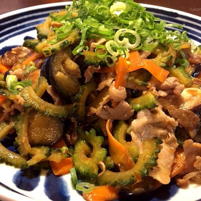 ゴーヤと豚肉の甘辛炒め(苦味をできるだけ抜いて食べやすくしよ)