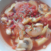 【レシピブログ】スパイスでお料理上手 アツアツがおいしい♪グリル&煮込み料理【ビーンズミネストローネ】♬