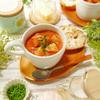 鶏胸肉と野菜たっぷりパプリカ豆乳スープ