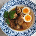 スペアリブの梅ジャム煮 & アンティークのお皿③