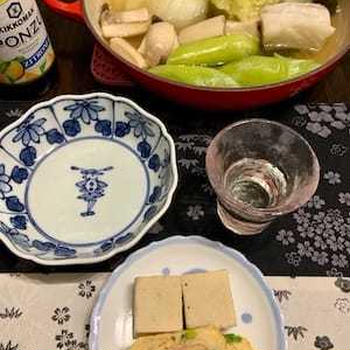 鱈・白菜・ネギ・エリンギのお鍋ともう一度お鍋