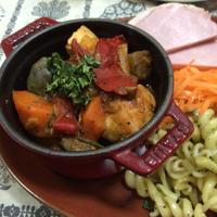 GABANシーズニングでバスク風鶏肉のトマト煮