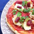 トースターで簡単カマンベールカルパスピザ