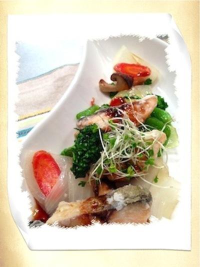 魚と野菜のバルサミコ酢ソース