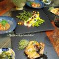 ◆アスパラガスのサラダにチキンソテー♪~ゆるやか糖質制限中♪ by fellowさん