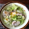 【めっちゃ簡単!!】春キャベツと豚肉の塩バターラー油スープ&うどん