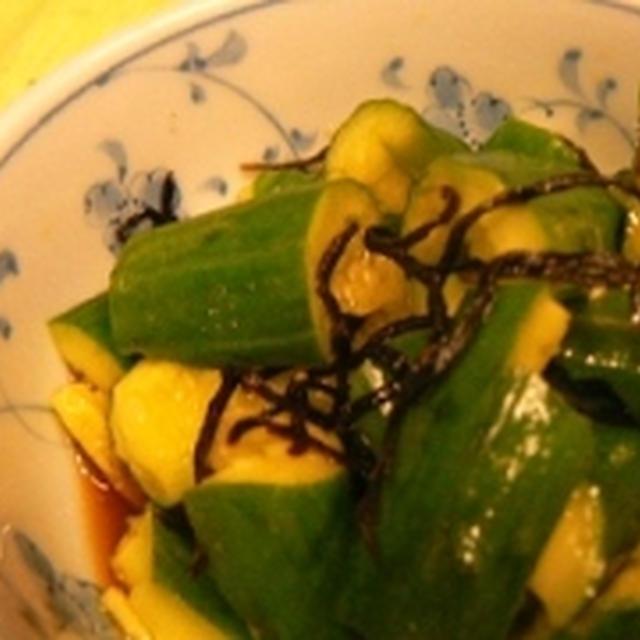 【うちレシピ】あえるだけ★きゅうりと塩昆布のポン酢和え