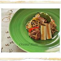 伝統高菜の日本蕎麦焼き
