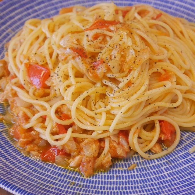 簡単!ツナとトマトのパスタの作り方