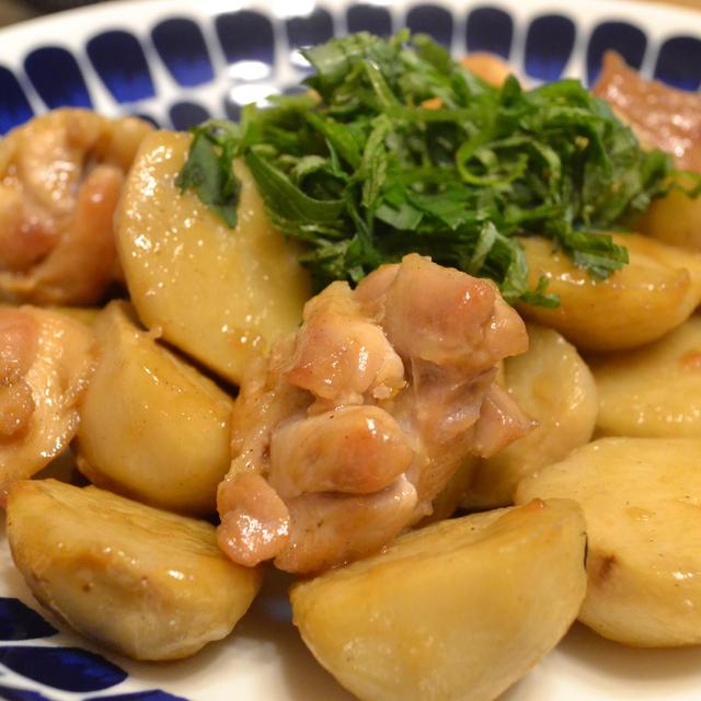 鶏肉と里芋のちょい中華照り焼き