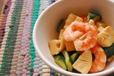 筍と海老の中華風炒め物