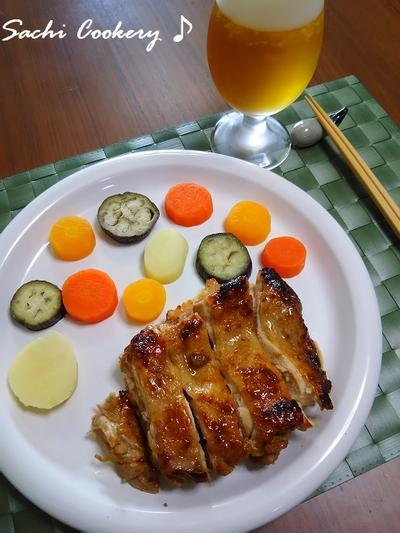 鶏もも肉の柚子コショウ照り焼き