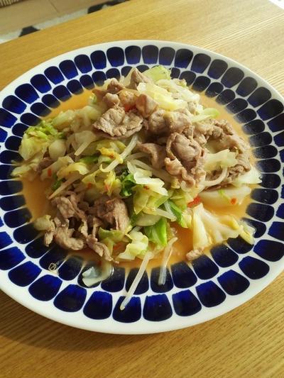「キャベツと豚肉のエスニック炒め」レシピ!簡単&飽きない~