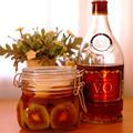 赤いキウイとりんごのコク甘フルブラ☆自家製フルーツブランデー