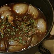 牛すじと玉葱の簡単デミ煮