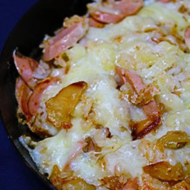 ★キムチのライスグラタン(김치밥 그라탕)。
