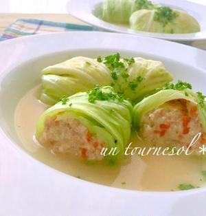 レンジで簡単調理♪美肌効果に‼︎15分でできる豆腐ロールキャベツ♡レシピ