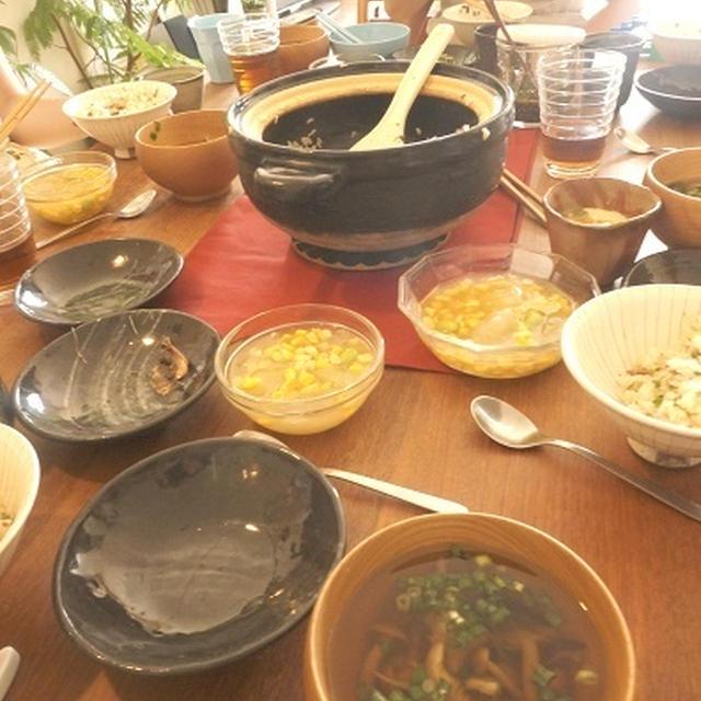 去年2学期の料理教室 秋刀魚の炊き込み御飯など
