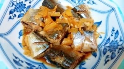 フライパンで簡単に!さんまの生姜煮♪