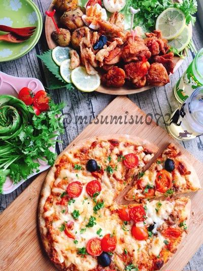 ピカールさんの「シチリア風ピザ」でピザパーティー