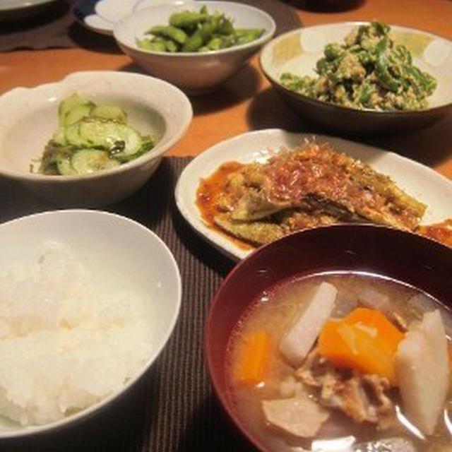 野菜中心の食卓