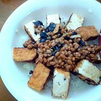 大豆の栄養たっぷり簡単丼