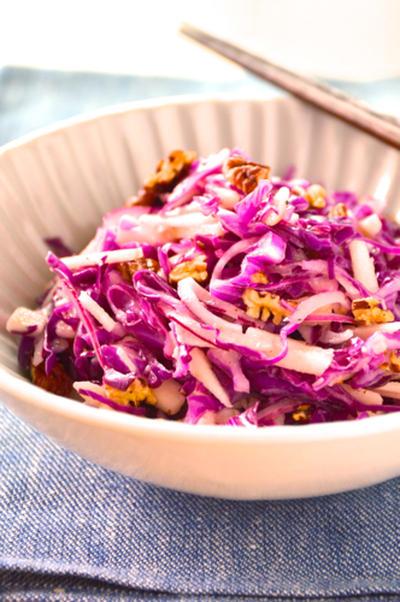 #551 紫キャベツとリンゴとピーカンナッツのサラダ