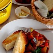 根菜とベーコンのトマト煮こみ♪