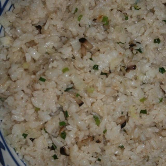 5月29日  葱と椎茸の炒飯