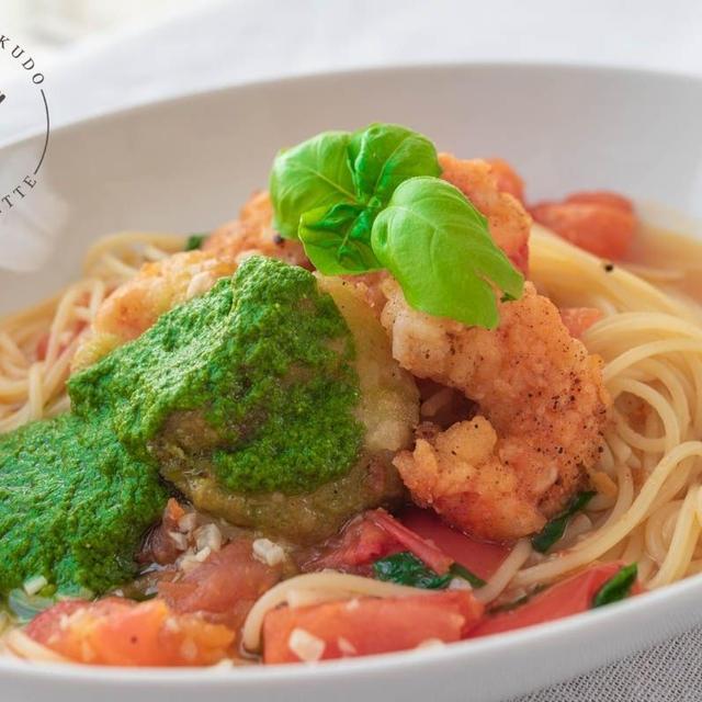海老殻のスープがポイント♪エビジェノバのレシピ・作り方