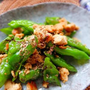 万願寺しし唐と鶏ひき肉の花椒風味